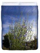 Romaine Lettuce Flowers Duvet Cover by Donna Munro