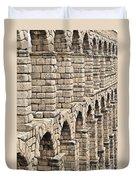 Roman Aqueduct Segovia Duvet Cover