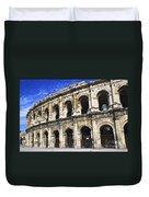 Roman Arena In Nimes France Duvet Cover