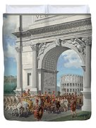 Roman Soldiers Lead Chained Captives Duvet Cover