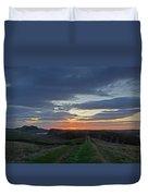 Roman Wall Sunrise II Duvet Cover