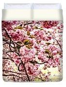 Romantic Cherry Blossoms Duvet Cover