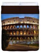 Rome Colosseum Dusk Duvet Cover