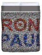Ron Paul Button Mosaic Duvet Cover