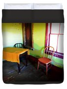 Room With Red Chair Duvet Cover