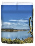 Roosevelt Lake  Duvet Cover