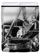 Roosevelt, Panama Canal Construction Duvet Cover