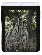 Roots From A Large Tree Inside Jallianwala Bagh Duvet Cover