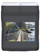 Rope Bridge At Carrick-a-rede In Northern Island Duvet Cover