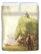 Roping The Wagon Duvet Cover
