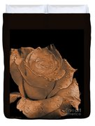 Rose Art  Sepia Duvet Cover