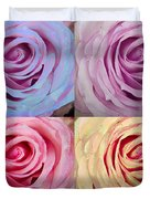 Rose Spiral Colorful Mix Duvet Cover