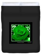 Rose With Green Coloring Added Duvet Cover