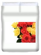 Roses Closeup Duvet Cover