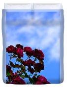 Roses In The Sky Duvet Cover