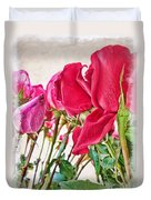 Roses In White Duvet Cover