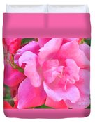 Roses Perfectly Pink Duvet Cover