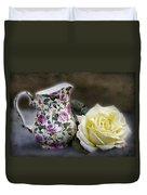 Roses Speak Of Romance Duvet Cover