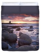 Roslee Castle, Easky, County Sligo Duvet Cover