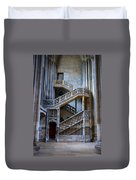 Rouen Cathedral Stairway Duvet Cover