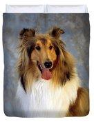 Rough Collie Dog Duvet Cover