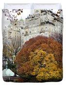 Round Autumn Trees Duvet Cover