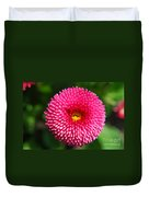 Round Pink Flower Duvet Cover