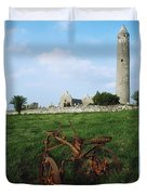 Round Tower, Kilmacduagh Near Gort, Co Duvet Cover