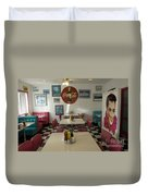 Route 66 Burgers Duvet Cover