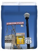 Route 66 Canyon Club Duvet Cover