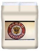Route 66 Gasoline Sign Duvet Cover