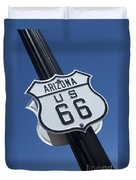 Route 66 Highway Sign Duvet Cover