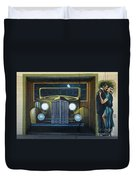 Route 66 Motel Mural Duvet Cover