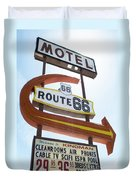 Route 66 Motel Sign 1 Duvet Cover