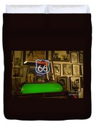 Route 66 Neon Sign 1 Duvet Cover
