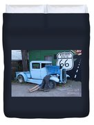Route 66 Repair Shop Duvet Cover