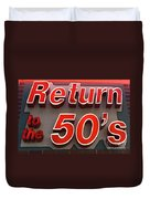 Route 66 Return To The 50s Duvet Cover