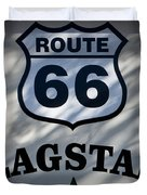 Route 66 Sign In Flagstaff Arizona Duvet Cover