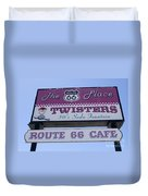 Route 66 Twisters Sign Duvet Cover