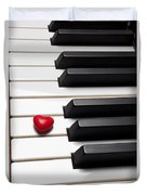 Row Of Piano Keys Duvet Cover