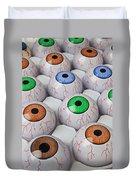Rows Of Eyeballs Duvet Cover