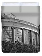 Royal Conservatory In Brussels - Black And White Duvet Cover