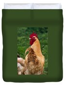 Royal Golden Rooster 1 Duvet Cover