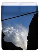 Royal Gorge Bridge And Sky Duvet Cover