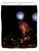 Royal Greenwich Fireworks Duvet Cover