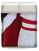 Royal Guard At Mohammed V Mausoleum Duvet Cover by Axiom Photographic