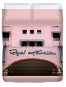 Royal Hawaiian Hotel Entrance Arch Duvet Cover
