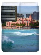 Royal Hawaiian Hotel Duvet Cover