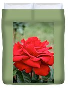 Royal Red Rose Duvet Cover
