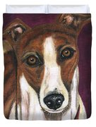 Royalty - Greyhound Painting Duvet Cover by Michelle Wrighton